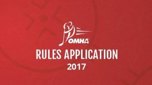 RULES APPLICATION 2017 RULES APPLICATION As the first