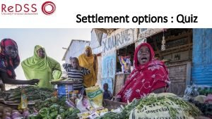 Settlement options Quiz QUIZ 1 Only return to