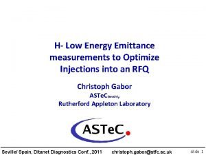 H Low Energy Emittance measurements to Optimize Injections