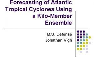 Forecasting of Atlantic Tropical Cyclones Using a KiloMember