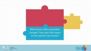 What factors affect population changes How does that