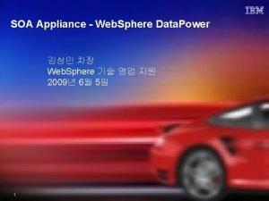 SOA Appliance Web Sphere Data Power Web Sphere