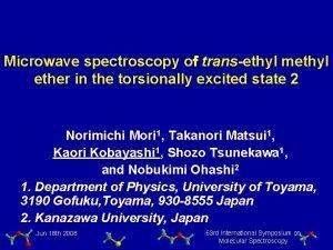 Microwave spectroscopy o transethyl methyl ether in the