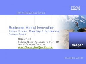 IBM Global Business Services Business Model Innovation Paths