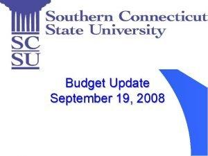 Budget Update September 19 2008 FY 2008 Spending