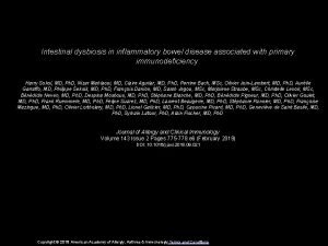 Intestinal dysbiosis in inflammatory bowel disease associated with