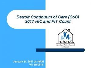 Detroit Continuum of Care Co C 2017 HIC