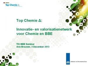 Top Chemie Innovatie en valorisatienetwerk voor Chemie en