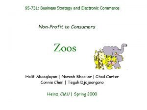 95 731 Business Strategy and Electronic Commerce NonProfit