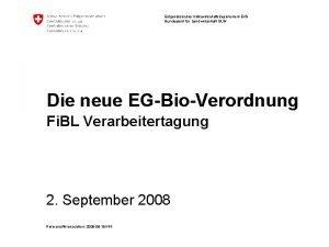 Eidgenssisches Volkswirtschaftsdepartement EVD Bundesamt fr Landwirtschaft BLW Die