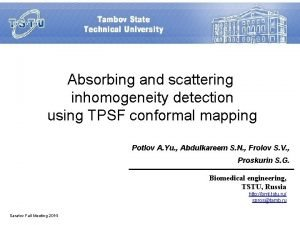 Absorbing and scattering inhomogeneity detection using TPSF conformal
