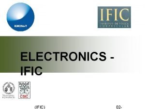 ELECTRONICS IFIC IFIC 02 1 CLB upgrade CLBv