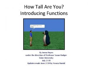 How Tall Are You Introducing Functions By Jenna