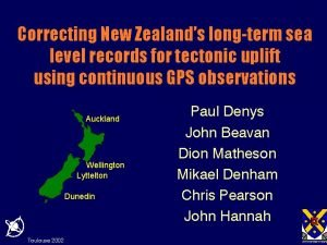 Correcting New Zealands longterm sea level records for
