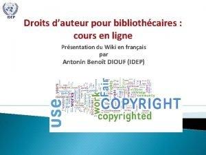 IDEP Droits dauteur pour bibliothcaires cours en ligne