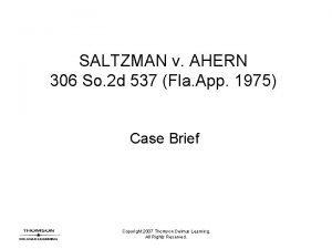 SALTZMAN v AHERN 306 So 2 d 537