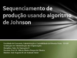 Faculdade de Economia Administrao e Contabilidade de Ribeiro