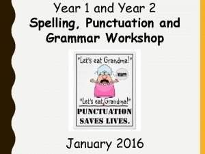 Year 1 and Year 2 Spelling Punctuation and