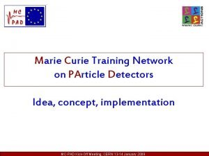 Marie Curie Training Network on PArticle Detectors Idea