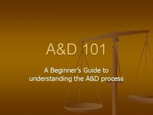 AD 101 A Beginners Guide to understanding the