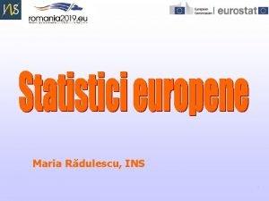 Maria Rdulescu INS 1 Agenda prezentrii BAZE DE