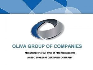 Manufacturer of All Type of PDC Components AN