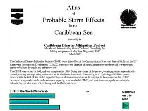 Atlas of Probable Storm Effects in the Caribbean