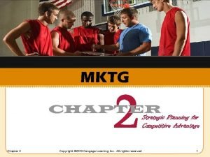 MKTG 2 CHAPTER Chapter 2 Copyright 2010 Cengage
