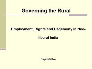 Governing the Rural Employment Rights and Hegemony in