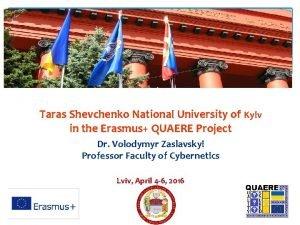 Taras Shevchenko National University of Kyiv in the