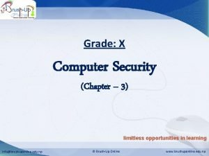 Computer Security Grade X Computer Security Chapter 3
