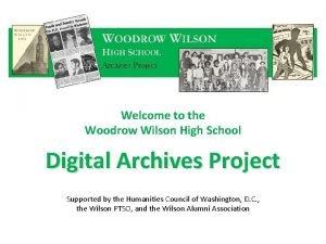 Welcome to the Woodrow Wilson High School Digital