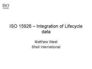 ISO TC 184SC 4 ISO 15926 Integration of
