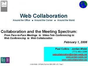 Web Collaboration Around the Office Around the Corner
