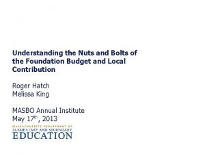 Understanding the Nuts and Bolts of the Foundation