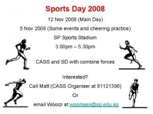 Sports Day 2008 12 Nov 2008 Main Day