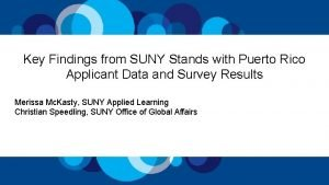 Key Findings from SUNY Stands with Puerto Rico