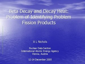 Beta Decay and Decay Heat Problem of Identifying