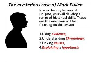 The mysterious case of Mark Pullen In your