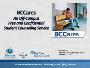 BCCares An OffCampus Free and Confidential Student Counseling