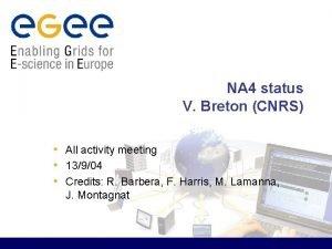 NA 4 status V Breton CNRS All activity