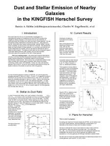 Dust and Stellar Emission of Nearby Galaxies in