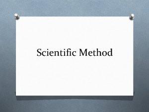 Scientific Method What is the scientific method It