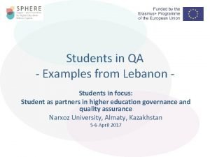 Students in QA Examples from Lebanon Students in
