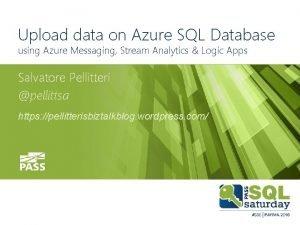 Upload data on Azure SQL Database using Azure