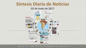 Sntesis Diaria de Noticias 02 de Junio de