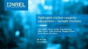 Hydrogen station capacity calculation Sample Stations Sam Sprik