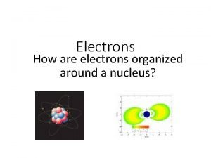 Electrons How are electrons organized around a nucleus