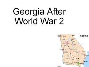 Georgia After World War 2 Farming in Georgia