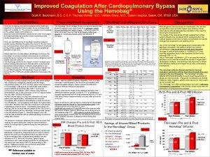 Improved Coagulation After Cardiopulmonary Bypass Using the Hemobag